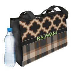 Moroccan & Plaid Ladies Workout Bag (Personalized)