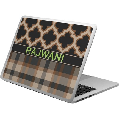 Moroccan & Plaid Laptop Skin - Custom Sized (Personalized)
