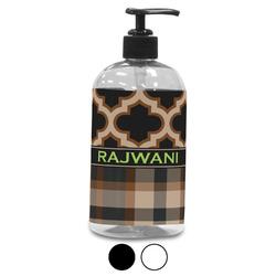 Moroccan & Plaid Plastic Soap / Lotion Dispenser (Personalized)
