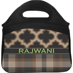 Moroccan & Plaid Lunch Tote (Personalized)