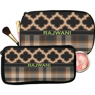 Moroccan & Plaid Makeup / Cosmetic Bag (Personalized)