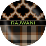 Moroccan & Plaid Melamine Plate (Personalized)