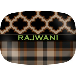 Moroccan & Plaid Melamine Platter (Personalized)