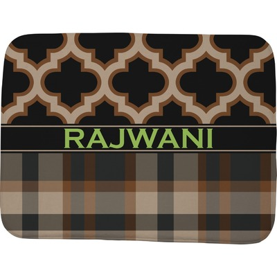 Moroccan & Plaid Memory Foam Bath Mat - 48