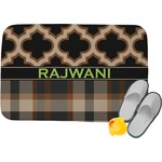 Moroccan & Plaid Memory Foam Bath Mat (Personalized)
