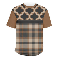 Moroccan & Plaid Men's Crew T-Shirt (Personalized)