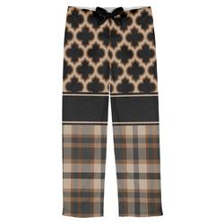 Moroccan & Plaid Mens Pajama Pants (Personalized)