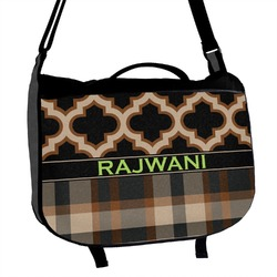 Moroccan & Plaid Messenger Bag (Personalized)
