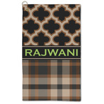 Moroccan & Plaid Microfiber Golf Towel - Large (Personalized)