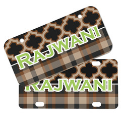 Moroccan & Plaid Mini/Bicycle License Plates (Personalized)
