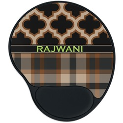 Moroccan & Plaid Mouse Pad with Wrist Support