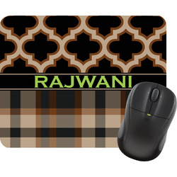 Moroccan & Plaid Mouse Pad (Personalized)