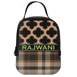 Moroccan & Plaid Neoprene Lunch Tote (Personalized)