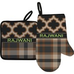 Moroccan & Plaid Oven Mitt & Pot Holder (Personalized)
