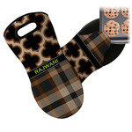 Moroccan & Plaid Neoprene Oven Mitt (Personalized)