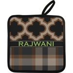 Moroccan & Plaid Pot Holder w/ Name or Text