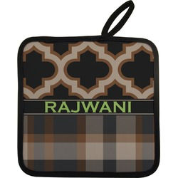Moroccan & Plaid Pot Holder (Personalized)