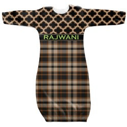 Moroccan & Plaid Newborn Gown (Personalized)