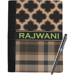 Moroccan & Plaid Notebook Padfolio (Personalized)