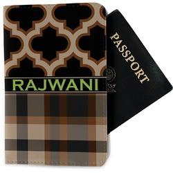 Moroccan & Plaid Passport Holder - Fabric (Personalized)