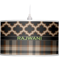 Moroccan & Plaid Drum Pendant Lamp (Personalized)