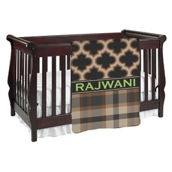 Moroccan & Plaid Baby Blanket (Personalized)