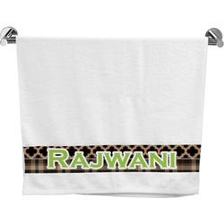 Moroccan & Plaid Bath Towel (Personalized)