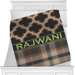 Moroccan & Plaid Minky Blanket (Personalized)