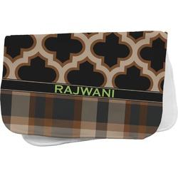 Moroccan & Plaid Burp Cloth (Personalized)