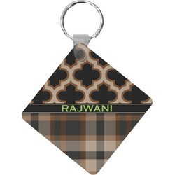 Moroccan & Plaid Diamond Key Chain (Personalized)