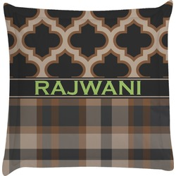 Moroccan & Plaid Euro Sham Pillow Case (Personalized)