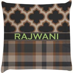 Moroccan & Plaid Euro Sham Pillow Case (Personalized)