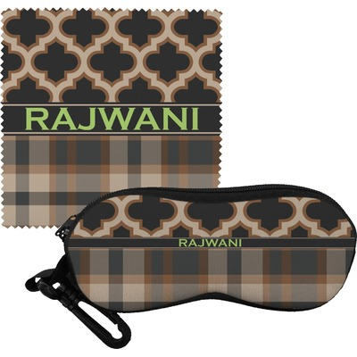 Moroccan & Plaid Eyeglass Case & Cloth (Personalized)