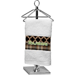 Moroccan & Plaid Finger Tip Towel (Personalized)