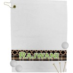Moroccan & Plaid Golf Towel (Personalized)