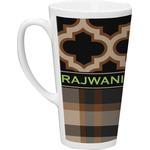 Moroccan & Plaid Latte Mug (Personalized)