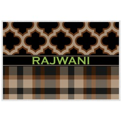 Moroccan & Plaid Placemat (Laminated) (Personalized)
