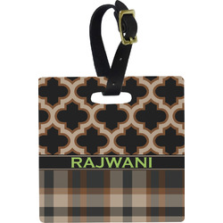 Moroccan & Plaid Luggage Tags (Personalized)