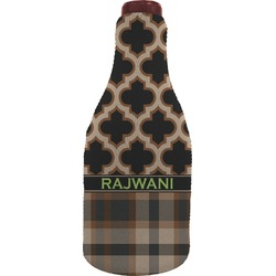 Moroccan & Plaid Wine Sleeve (Personalized)