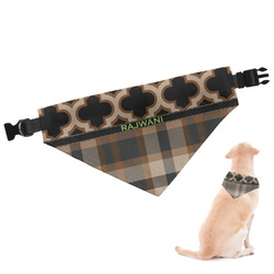 Moroccan & Plaid Dog Bandana (Personalized)
