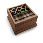 Moroccan & Plaid Pet Urn w/ Name or Text