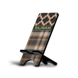 Moroccan & Plaid Phone Stand (Personalized)
