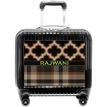Moroccan & Plaid Pilot / Flight Suitcase (Personalized)