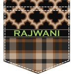 Moroccan & Plaid Iron On Faux Pocket (Personalized)