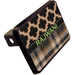 "Moroccan & Plaid Rectangular Trailer Hitch Cover - 2"" (Personalized)"