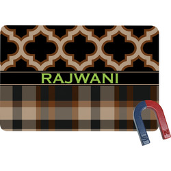 Moroccan & Plaid Rectangular Fridge Magnet (Personalized)