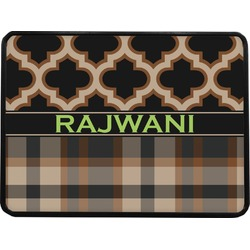 Moroccan & Plaid Rectangular Trailer Hitch Cover (Personalized)