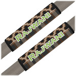 Moroccan & Plaid Seat Belt Covers (Set of 2) (Personalized)