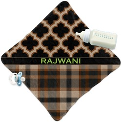 Moroccan & Plaid Security Blanket (Personalized)