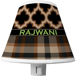 Moroccan & Plaid Shade Night Light (Personalized)